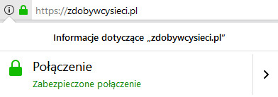 Strona z certyfikatem SSL