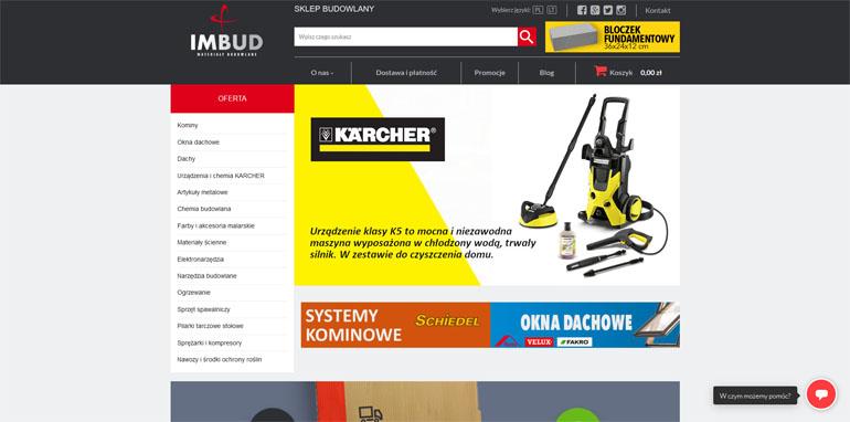 Nowy sklep internetowy Imbud
