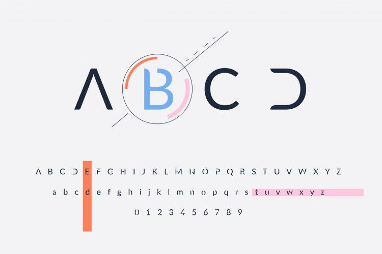 Wyróżniająca się litera jako jeden ztrendów wwyborze fontów w2021 roku
